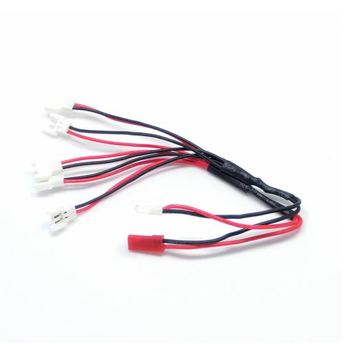 1 to 5 Parallel Charging Cable For 3.7V Battery (1S LiPo Walkera, Hubsan X4) [68437]