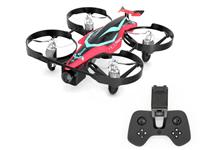 Eachine E013 Plus Red Micro FPV Racing Drone Anti-Turtle Mode w/ 5.8G 48CH 1000TVL Camera, 3 x Batte