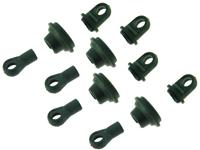 31031 Upper/Lower Shock End 4P Set: E10XB / E10SC / E10XT / E10MT / E10XBL / E10SCL / E10XTL / E10MT