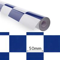 407000045-0 Covering Film Large Pattern Grill-Work Blue/White (5mtr)