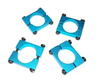 16mm Blue Anodized CNC Semicircle Alloy Tube Clamp w/screws [450000481-0]