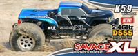 HPI Savage XL 5.9 Nitro Gigante 4WD 1:8 2.4GHz (Blue RTR Version) [HPI104248-B]