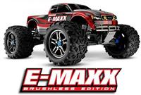 Traxxas E-Maxx Brushless 4WD 1:10 EP TQi 2.4Ghz (RTR Version) [TRX3908-TQi-Red]